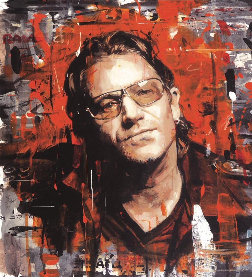 Rock Star - Bono (Canvas)